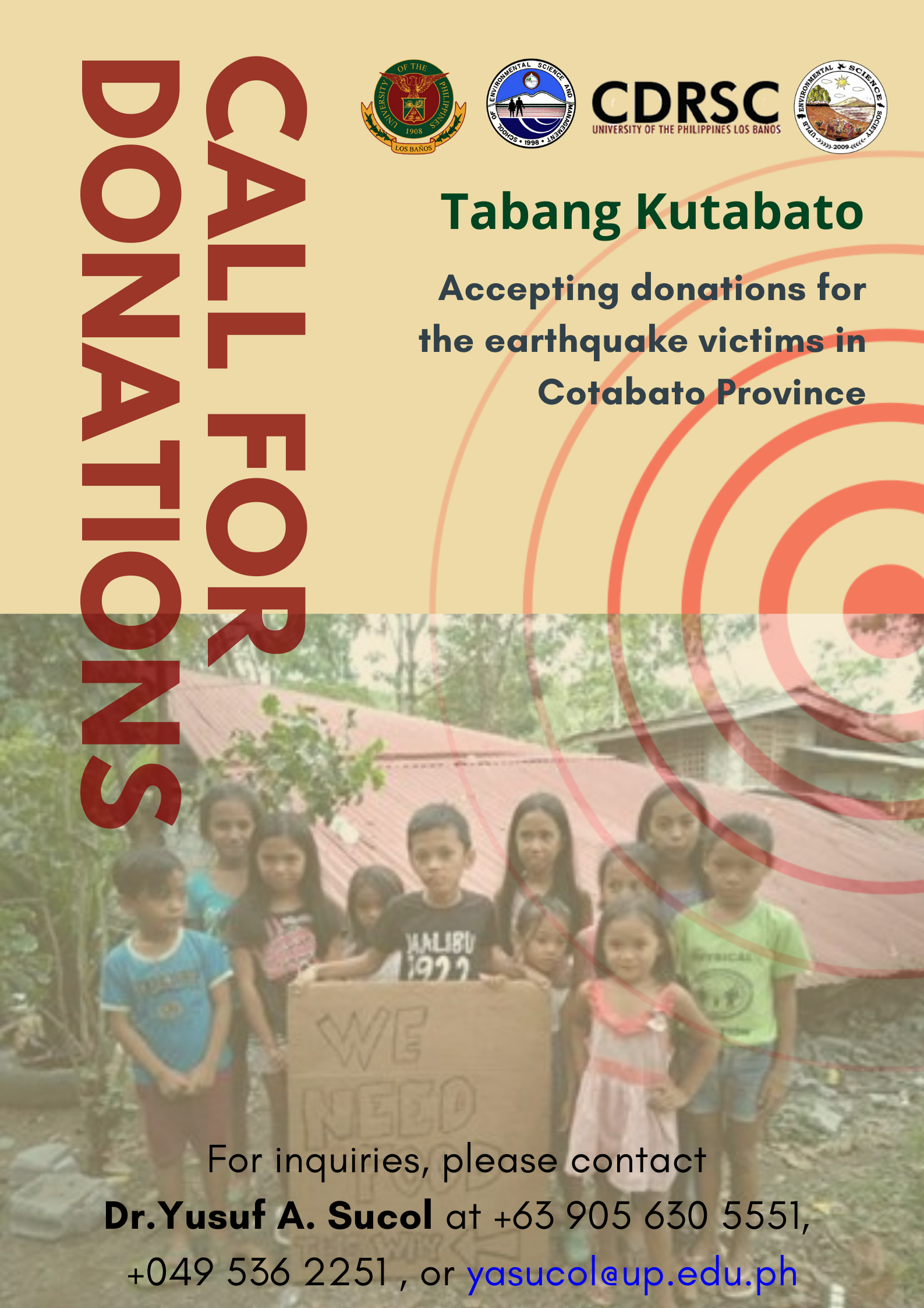 Lets help the earthquake victims in Mindanao