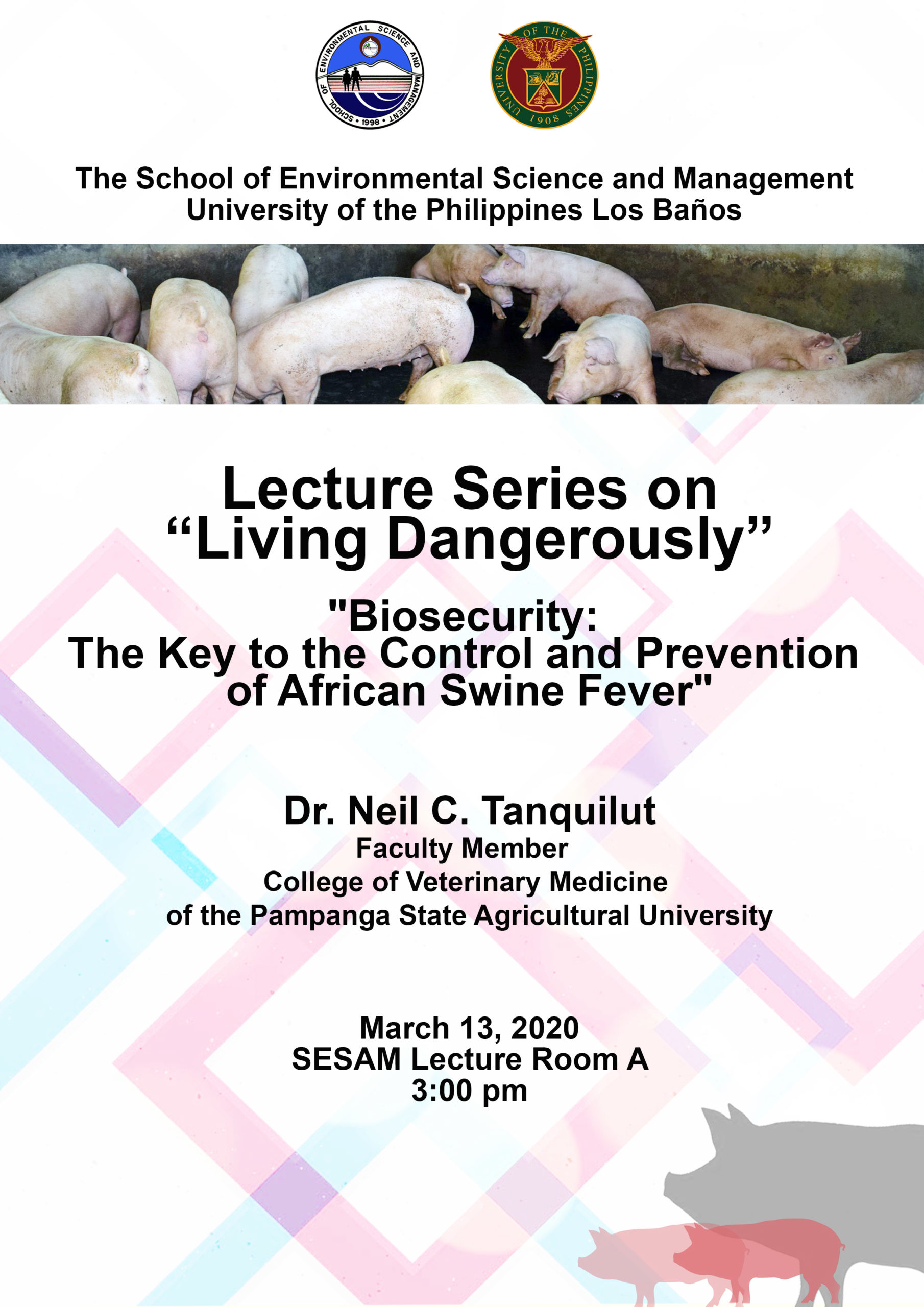 Announcement: Dr. Tanquilut's lecture is postponed