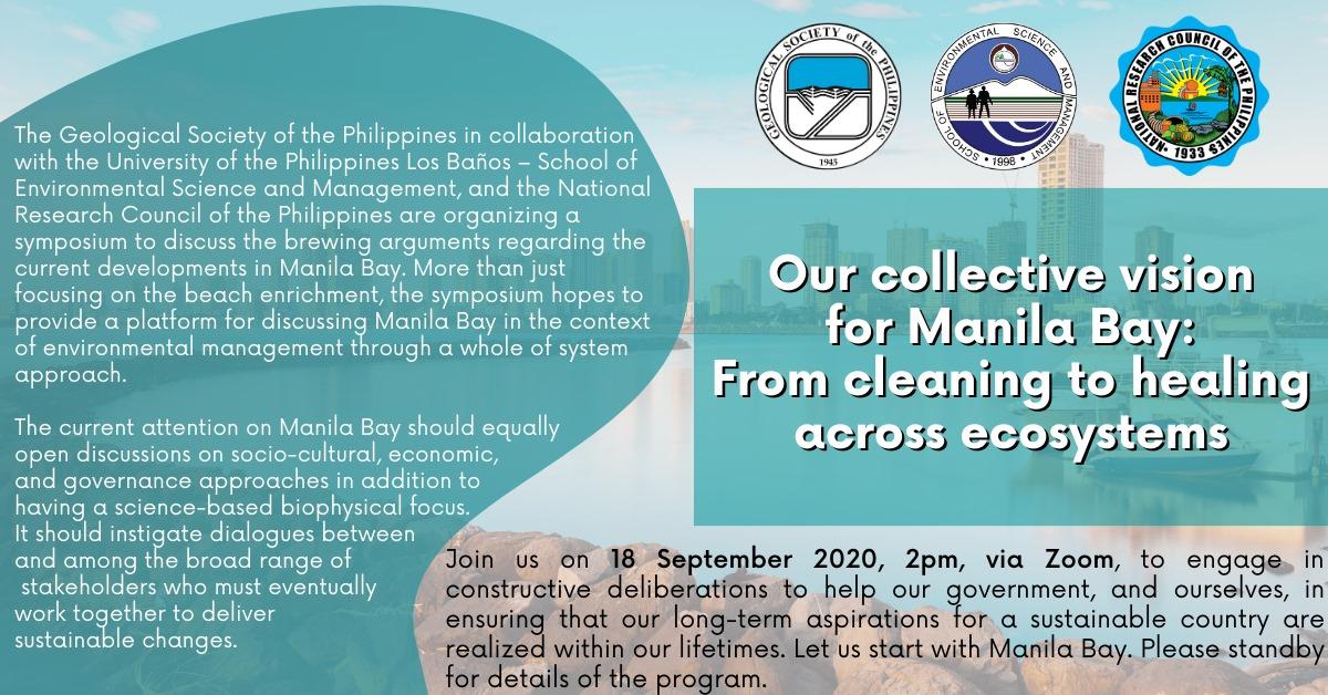 SESAM, GSP and NRCP to Hold Manila Bay White Sand Symposium