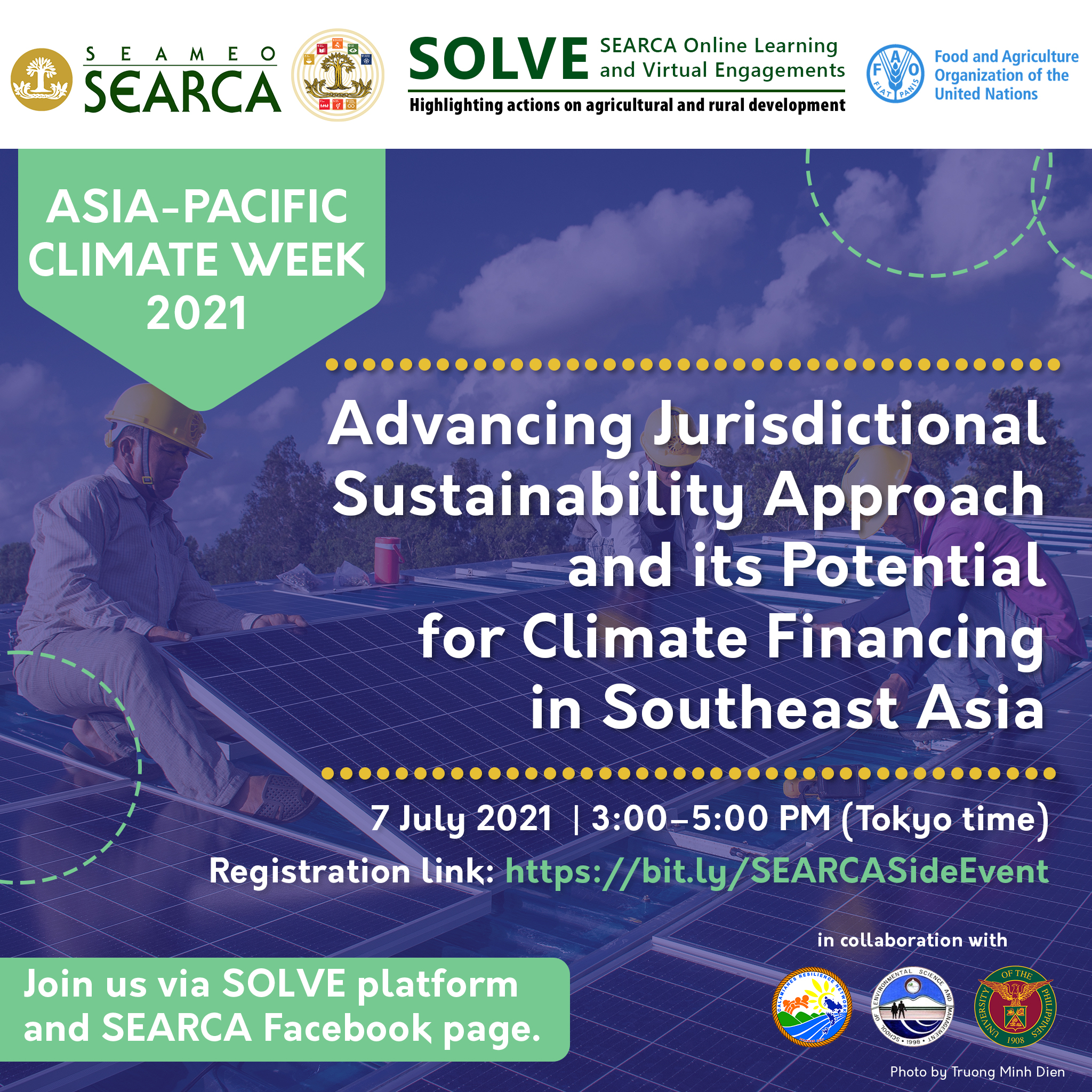 SEARCA Invites Everyone for the Asia-Pacific Climate Week Celebration